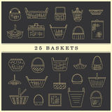 Set of baskets Stock Image