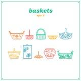 Set of baskets Royalty Free Stock Image