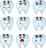 Set of batch cartoon dent smiles Stock Photography