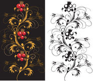 Set of batch delicate ornament. Royalty Free Stock Images