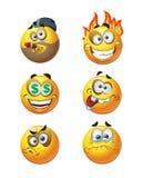 Set of batch round emotion smiles. Set of batch  round emotion smiles Stock Photo