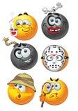 Set of batch smiles emotion2 Stock Photo