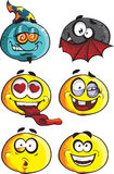 Set of batch smileys Royalty Free Stock Images
