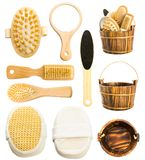 Set of bath accessories Royalty Free Stock Photography