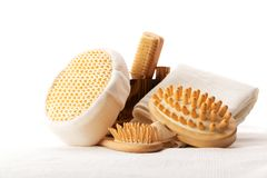 Set of bath accessories Stock Photos