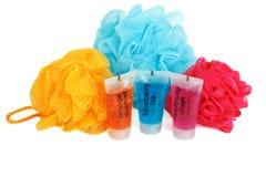 Set for bath colour sponges Royalty Free Stock Image