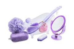 Set Bath and Relax Products - Toiletries Royalty Free Stock Image
