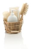 Set of bathing accessories Royalty Free Stock Images