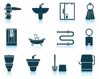 Set of bathroom icon Stock Images