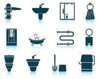 Set of bathroom icon Stock Images
