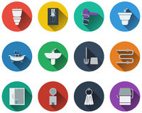 Set of bathroom icons Royalty Free Stock Image