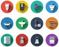 Set of bathroom icons Royalty Free Stock Image