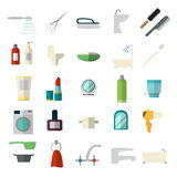 Set of bathroom icons Stock Photo