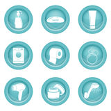 Set of bathroom icons. On white background Royalty Free Stock Image