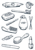 Set of bathroom objects Royalty Free Stock Image