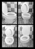 Set of bathroom toilet commodes. Stock Images