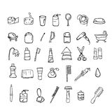 Set of bathroom vector icons Royalty Free Stock Images