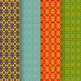 Set of batik seamless pattern in tribal asia style Stock Image