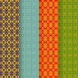 Set batikowy bezszwowy wzór w plemiennym Asia stylu Obraz Stock