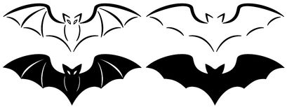 Set of 4 bats Stock Photos