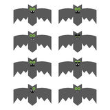 Set of bats, decorative icons for Halloween Stock Photo