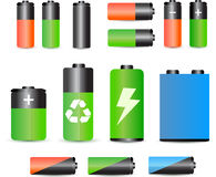 A set of batteries Royalty Free Stock Photo
