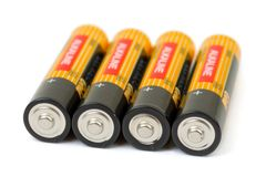 Set of batteries Royalty Free Stock Photos