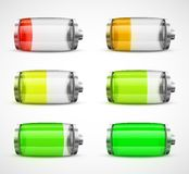 Set of batteries Royalty Free Stock Photography
