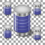 Set Batteries Icon royalty free stock photography