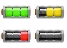 Set of Batteries Illustration Royalty Free Stock Photo