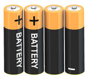 Set of battery Royalty Free Stock Photography