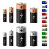 Set of battery Stock Photos