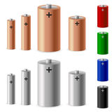 Set of battery Stock Photography