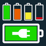 Set of battery charge level Royalty Free Stock Images