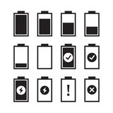 Set of battery charge level indicators. Vector illustration stock illustration
