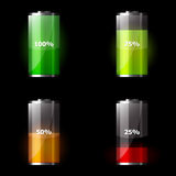 Set of battery icons Royalty Free Stock Photos