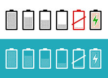 Set of battery icons Royalty Free Stock Photo