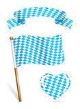 Set of Bavaria flag icons Royalty Free Stock Images