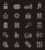 Set of BBQ icons Royalty Free Stock Photography