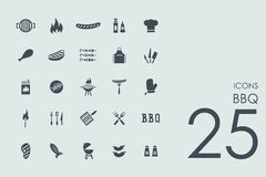 Set of BBQ icons Royalty Free Stock Photos