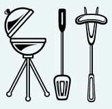 Set of bbq objects Stock Image