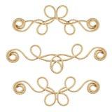 Set beżowe bawełniane linowe winiety Fotografia Royalty Free