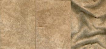 Set beżowe zamszowy skóry tekstury obrazy royalty free