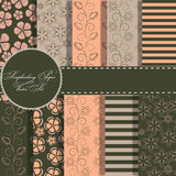 Set of beaautiful  paper for scrapbook Royalty Free Stock Images