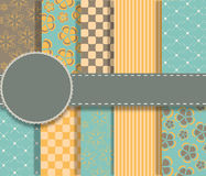 Set of beaautiful vector paper for scrapbook Royalty Free Stock Image