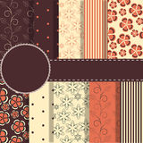 Set of beaautiful vector red and blue paper for Royalty Free Stock Photo