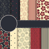 Set of beaautiful vector red and blue paper for Royalty Free Stock Image
