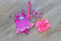 Set of beach accessories Royalty Free Stock Image