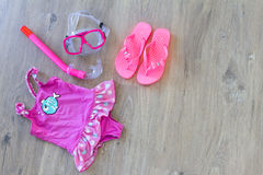 Set of beach accessories Stock Images