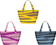 Set of beach bags Stock Images